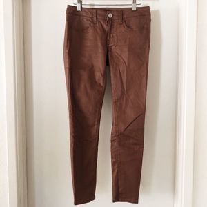 american eagle outfitters | brown stretch jeggings